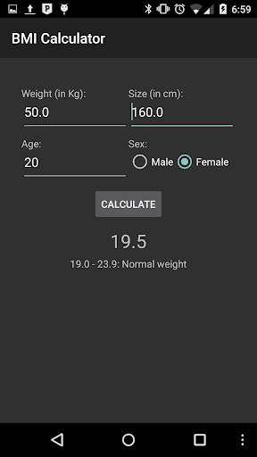 BMI - Calculator