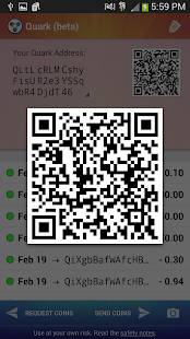 Quark Wallet - screenshot thumbnail