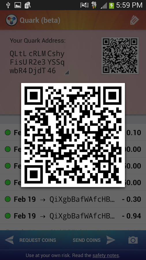 Quark Wallet - screenshot