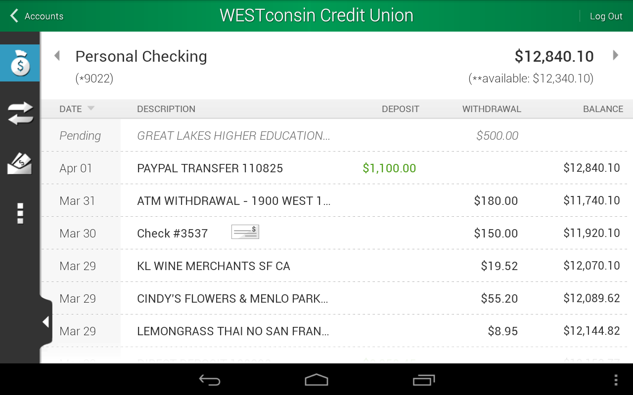 WESTconsin Credit Union - screenshot