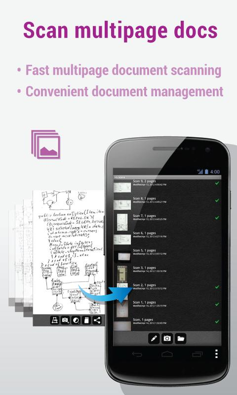 MDScan: Mobile Doc Scanner - screenshot