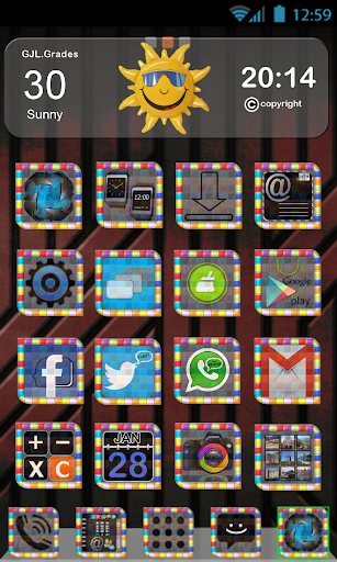 GLE theme Colorful Tiles