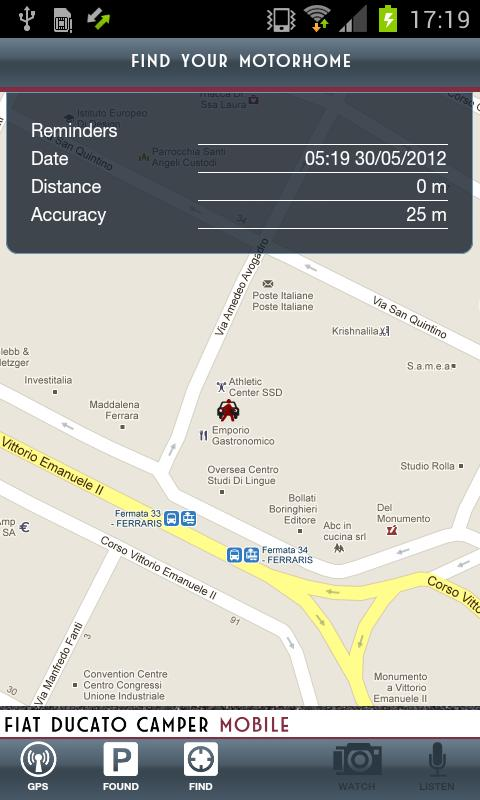 Fiat Ducato Camper Mobile: screenshot