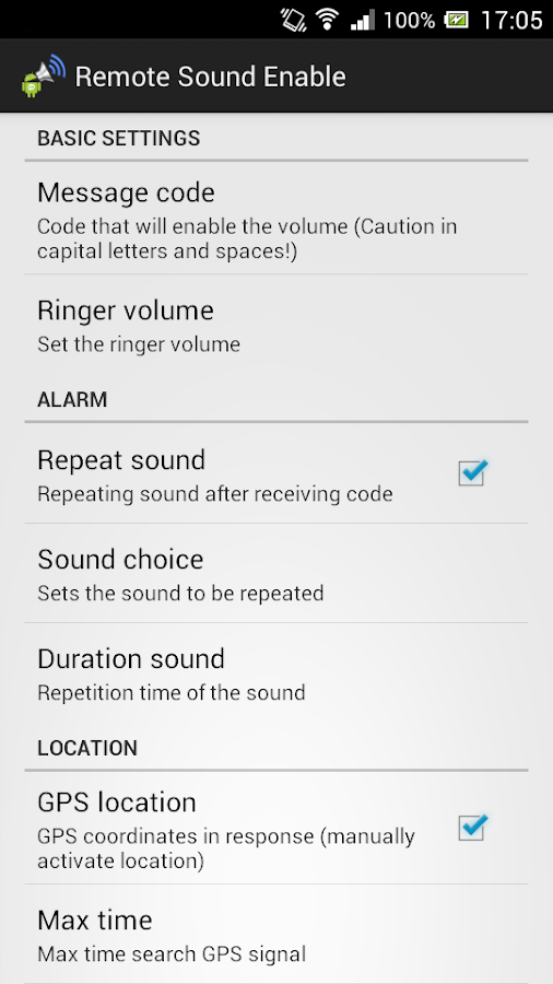 Remote Sound Enable- screenshot