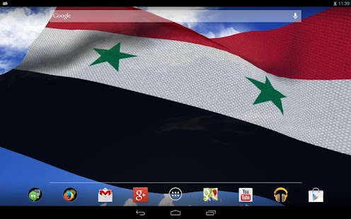3D Syria Flag Live Wallpaper - screenshot thumbnail
