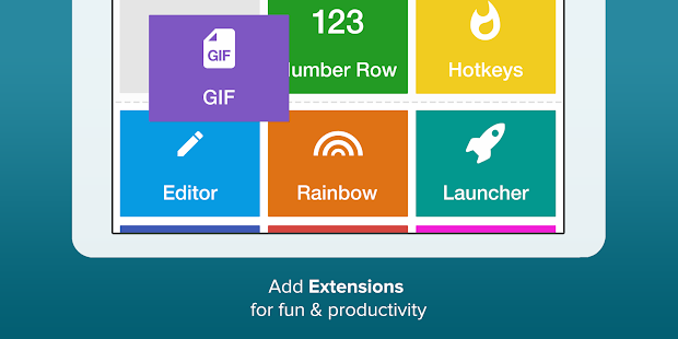 Fleksy Keyboard - Power your chats & messages Screenshot
