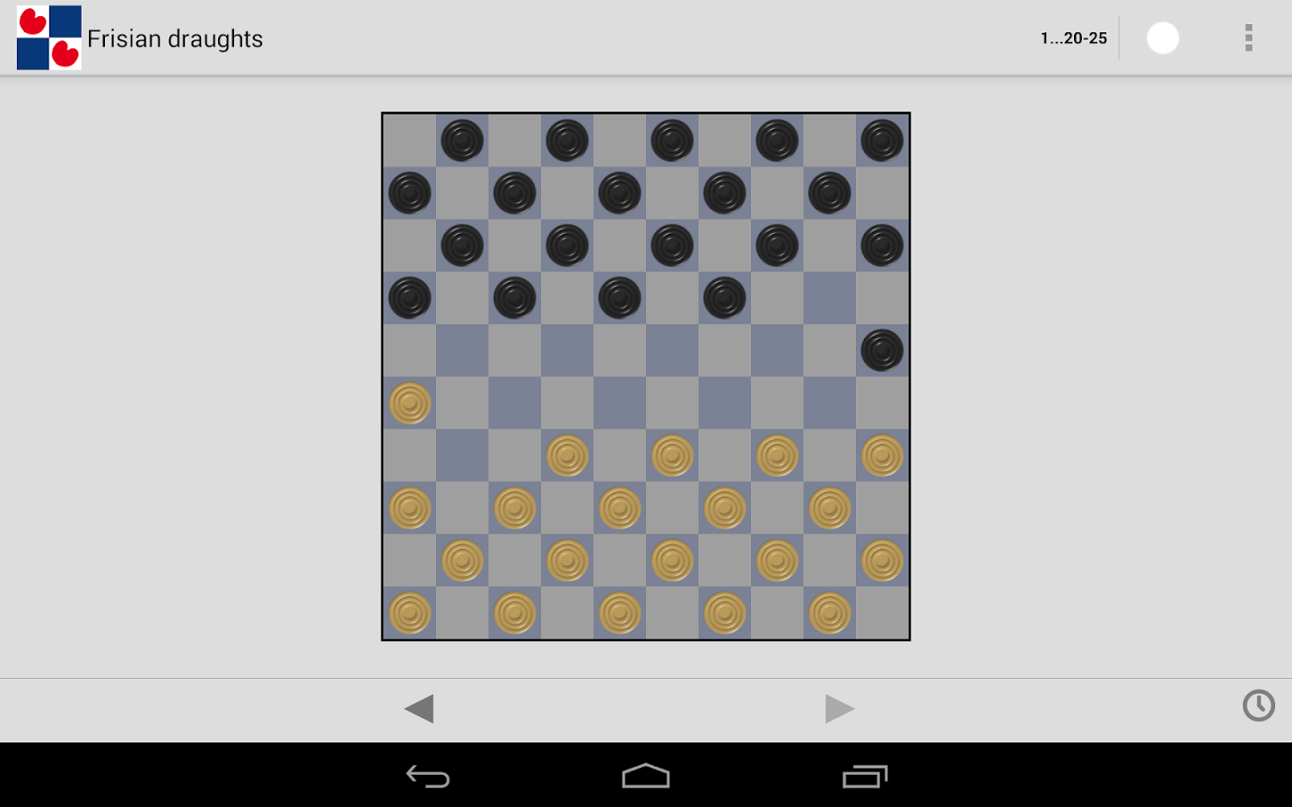 Frisian draughts- screenshot
