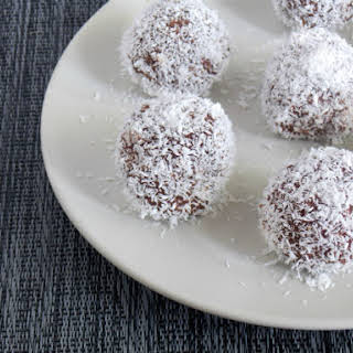 Chocolate Banana Coconut Balls.