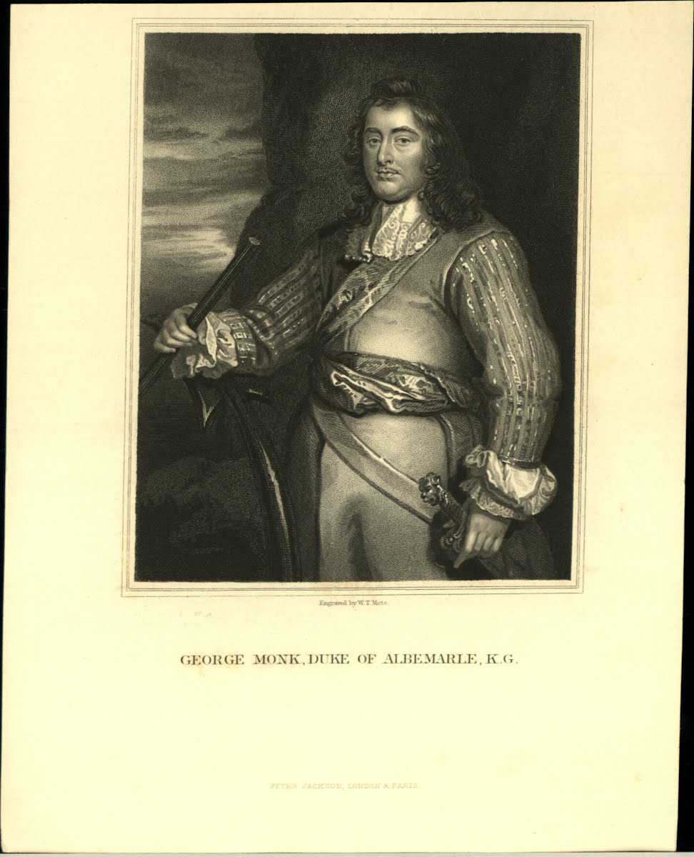Albemarle, George General Monk (Or Monck) 1608-1670