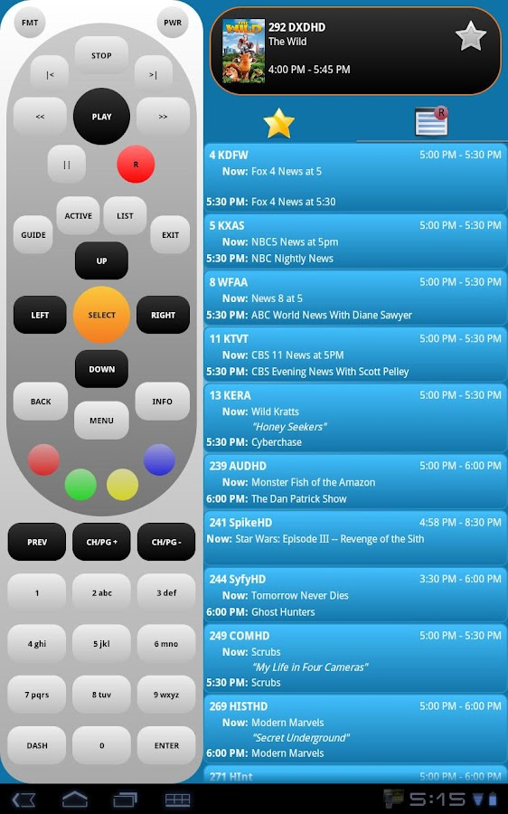 DIRECTV Remote PRO - screenshot