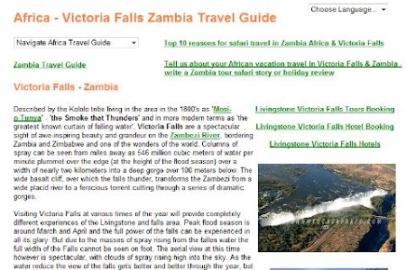 Zambia Safari Victoria Falls screenshot 1
