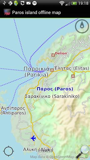 Paros island offline map