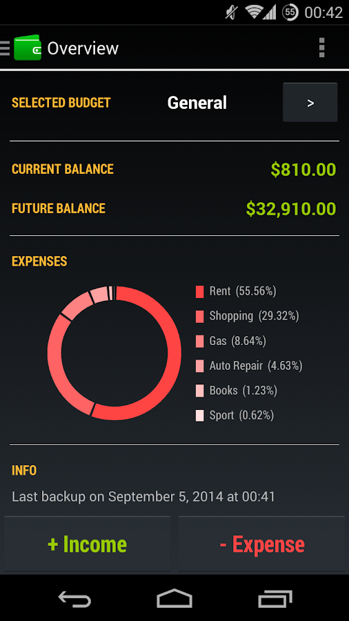 Pocket Budget- screenshot