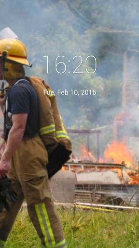 Firemen's Day Lock Screen