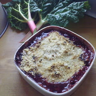 Rhubarb and Plum Jam Crumble Recipe