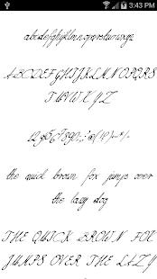 Fonts for FlipFont Script Font 8