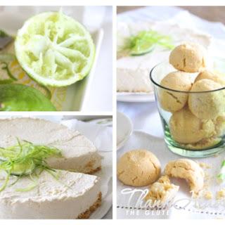Lime and Greek Yoghurt No-Bake Cheese Cake with Macadamia & White Choc Cookie Crust (phew).