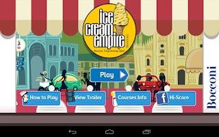 Screenshot of Bocconi Ice Cream Empire
