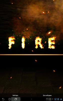 Name Text Fire FREE - screenshot