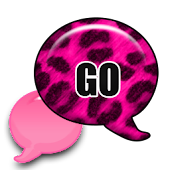 GO SMS - Leopard Hot Pink