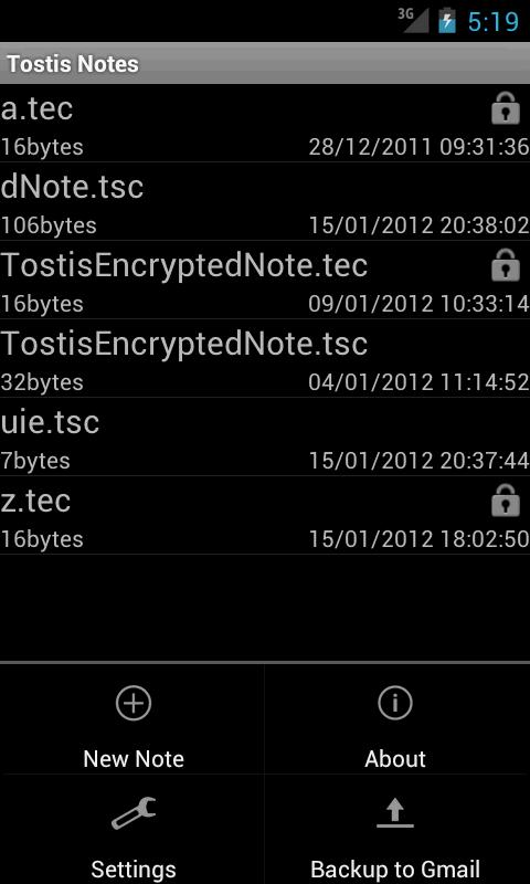 Tostis Notes Pro- screenshot