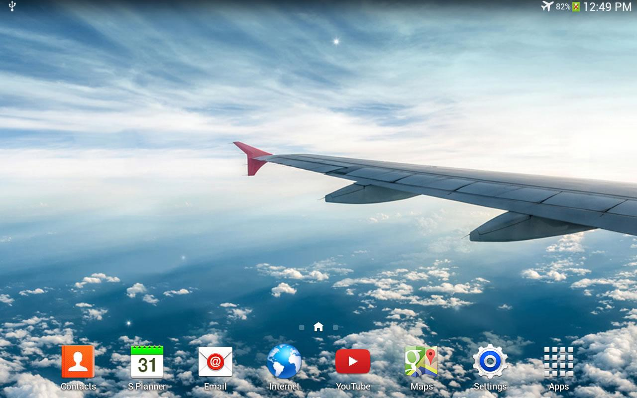 Galaxy S4 Fly Live Wallpaper - screenshot