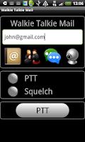 Screenshot of Walkie Talkie Mail