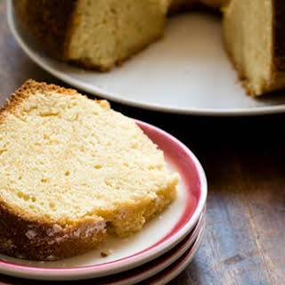 Sour Cream Pound Cake With Ruby Red Grapefruit.