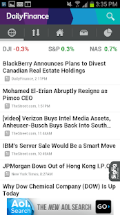 DailyFinance – Stocks & News - screenshot thumbnail