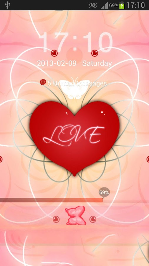 GO Locker Theme Romantic - screenshot