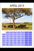 Screenshot of Printable wall calendar free
