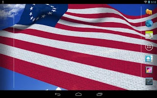 Screenshot of 3D US Flag Live Wallpaper