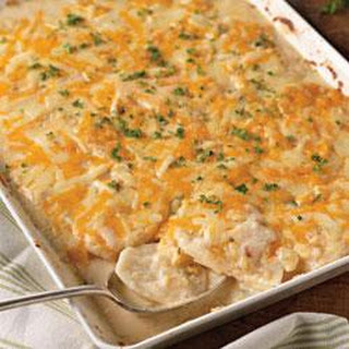 Savory Garlic Scalloped Potatoes.
