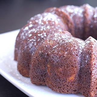 Pear & Bourbon Bundt Cake with Bourbon Sabayon, A Vintage Recipe Remake.