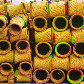 Stack a thon by Avanish Dureha - Artistic Objects Other Objects ( cane stools, handicraft, mudhe, india, delhi, stools )
