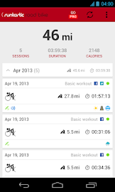Runtastic Road Bike Tracker Screenshot 2