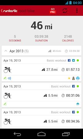 Runtastic Road Bike Tracker 2.2.1 screenshot 37469