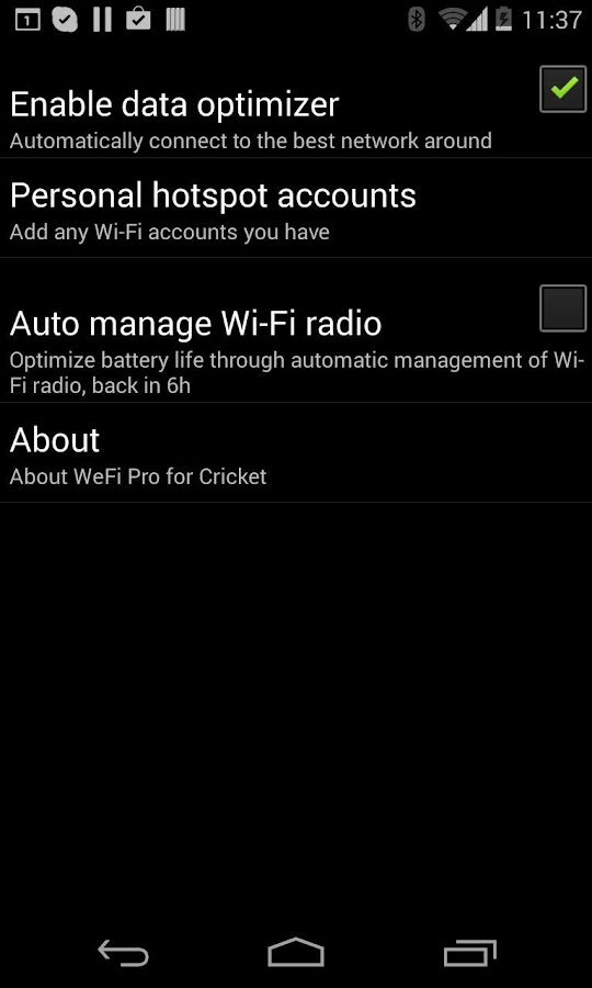 WeFi Pro for Cricket - screenshot