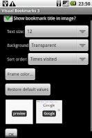 Screenshot of Visual Bookmarks pro
