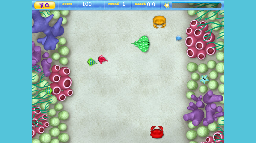 Crabs Pinpong Game - screenshot