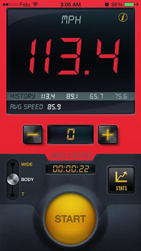 Tennis Serve Speed Radar Gun