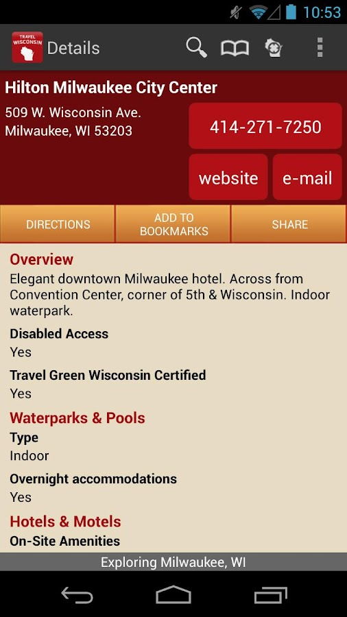 Travel Wisconsin - screenshot