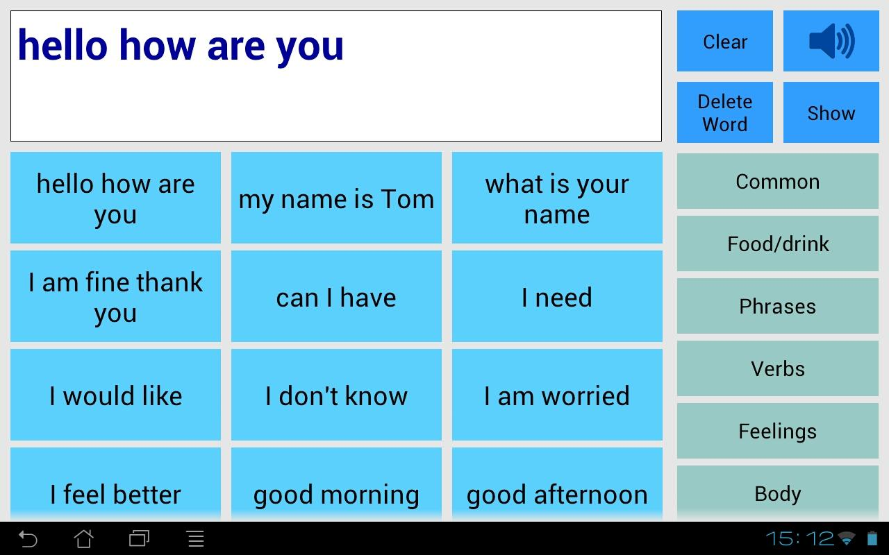 Speech Assistant AAC - screenshot