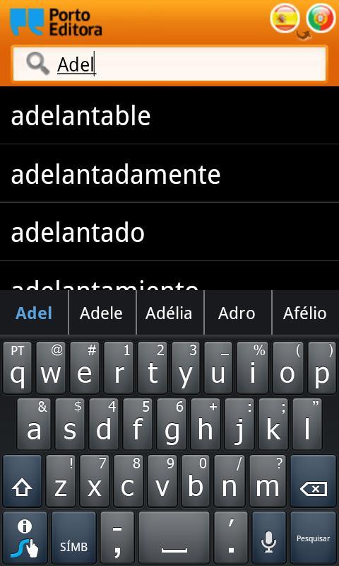 Dicionário Espanhol-Português- screenshot