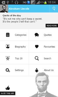 Abraham Lincoln Quotes screenshot