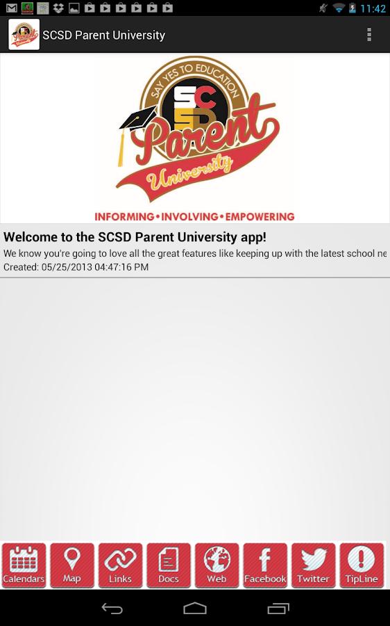 SCSD Parent University - screenshot