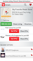 Screenshot of Verizon Visual411 Free Coupons