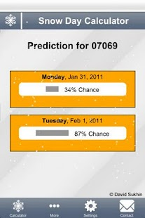 Snow Day Calculator- screenshot thumbnail