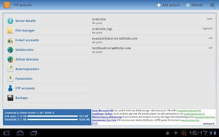 Control Panel for cPanel Screenshot 7
