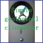 Simple geological clinometer